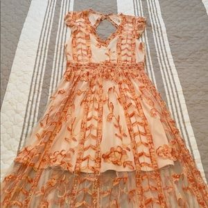 Altar'd State Flooe Length Dress